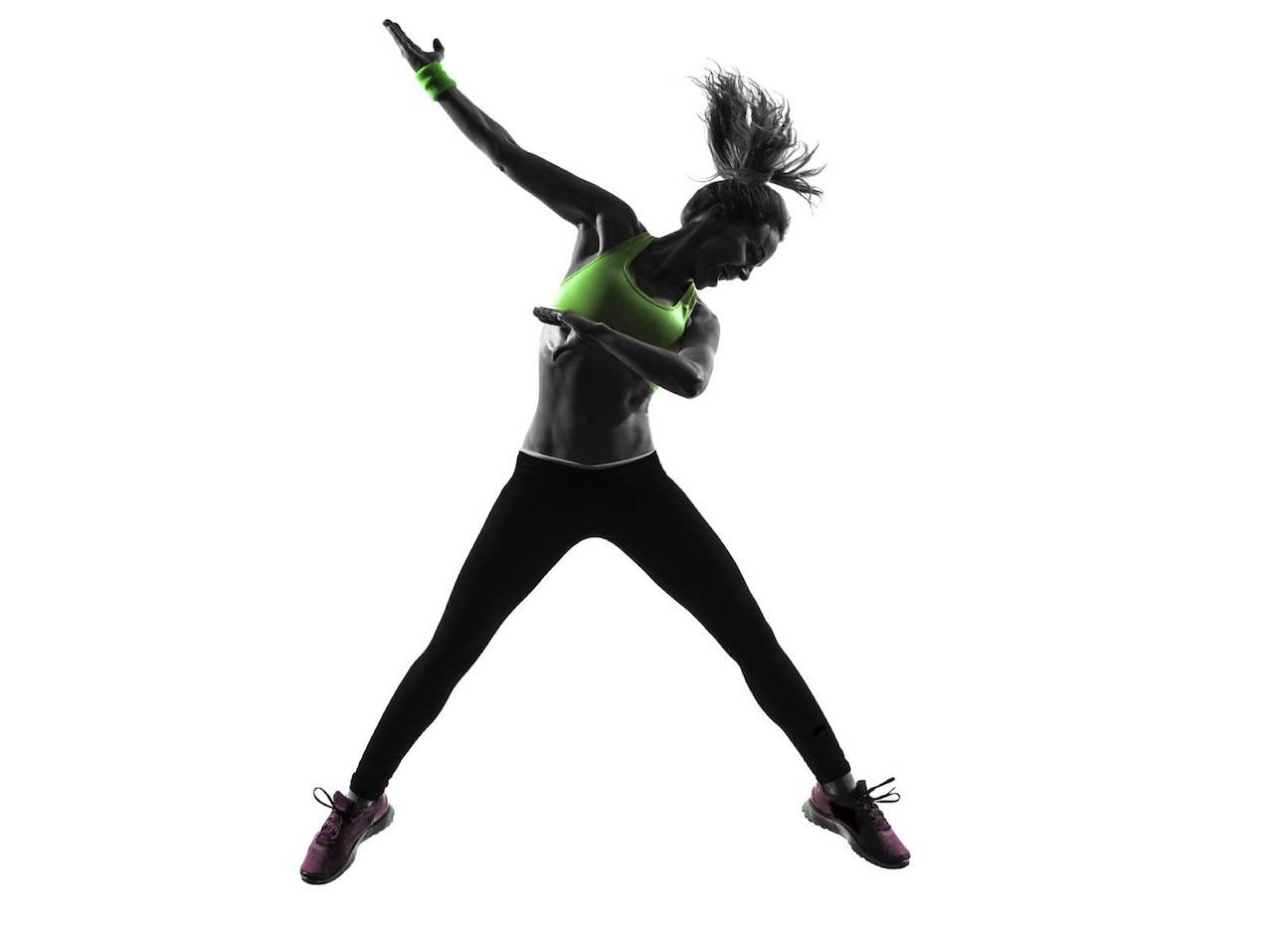 Zumba 3d fitness studio fitness club personal trainer for Lady fitness